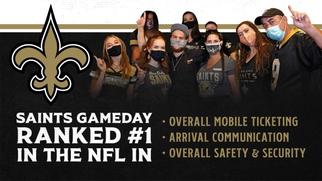 New Orleans Saints rank No. 1 in Mobile Ticketing and Safety and Security in 2020 Season